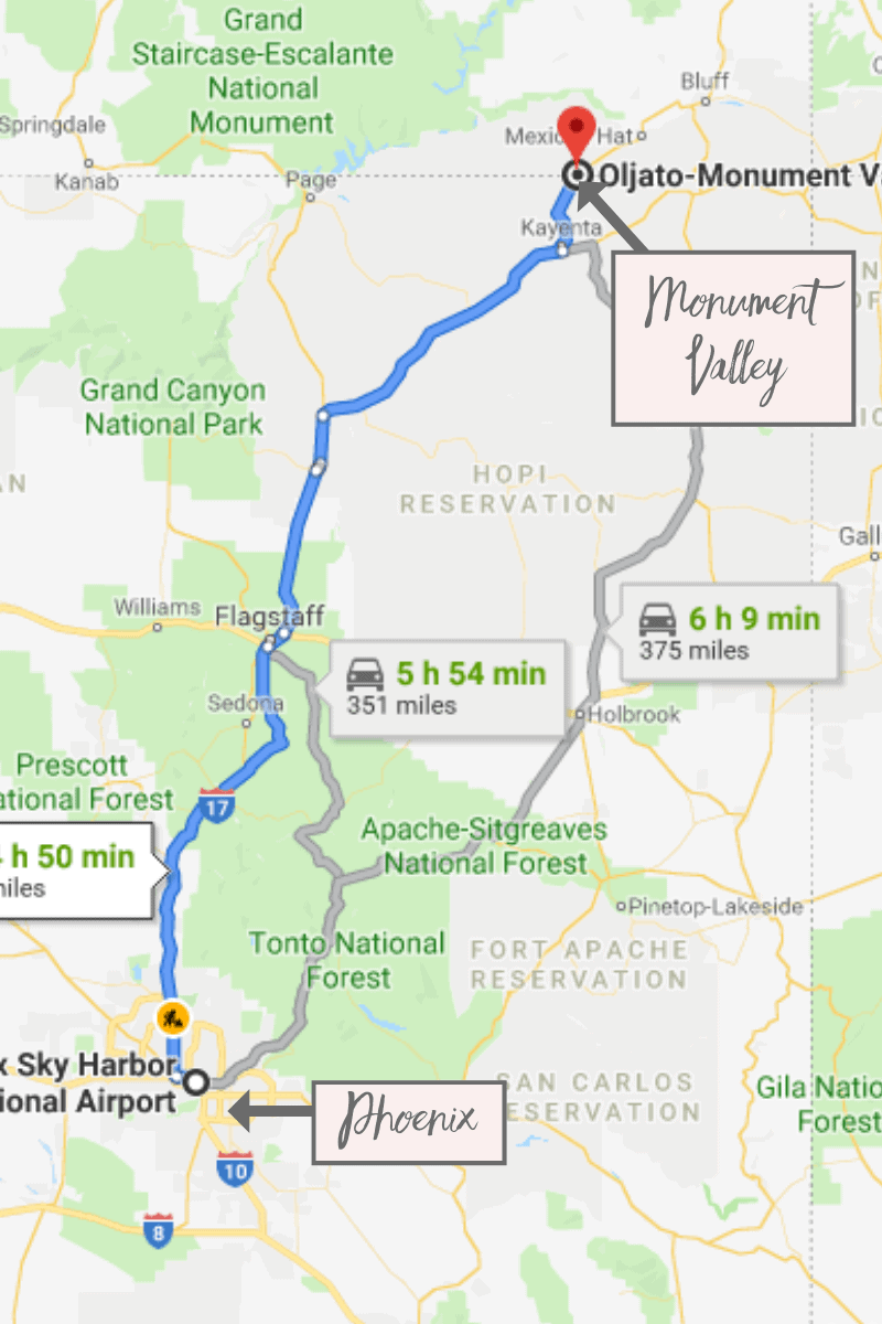 Map Of Arizona Monument Valley.The Best Things To Do In Monument Valley The Wandering Queen