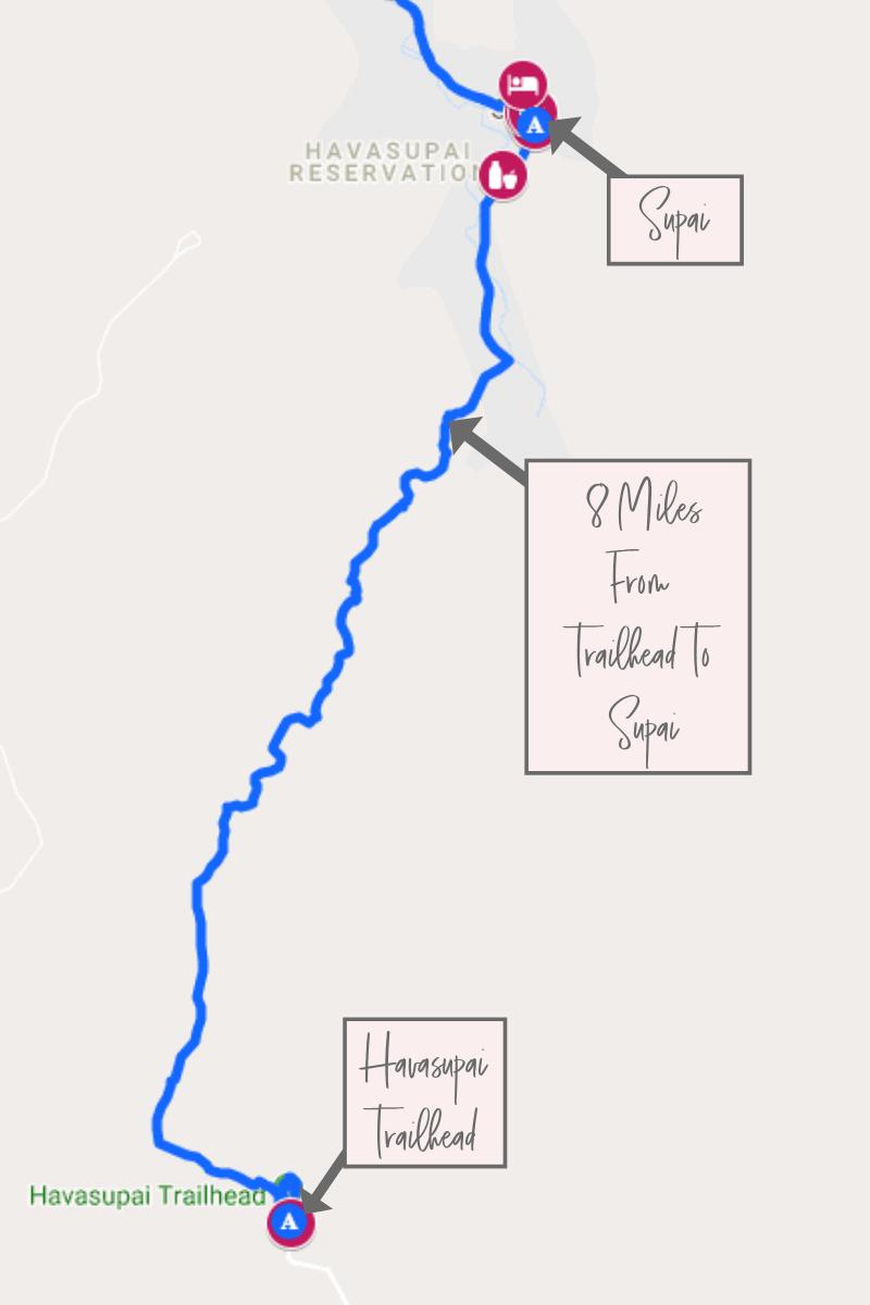 Supai Arizona Map.The Best Havasu Falls Hike Guide The Wandering Queen